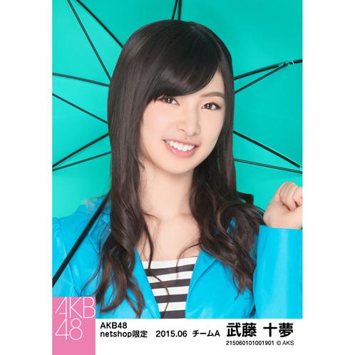 AKB48 2015年6月度 net shop限定個別生写真5枚セット 武藤十夢