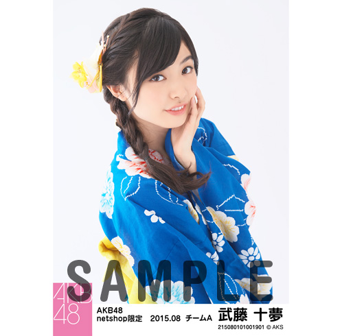 AKB48 2015年8月度 net shop限定個別生写真5枚セット 武藤十夢