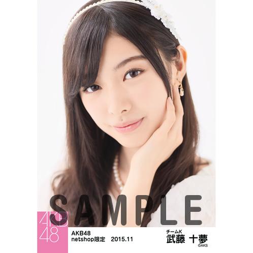 AKB48 2015年11月度 net shop限定個別生写真5枚セット 武藤十夢