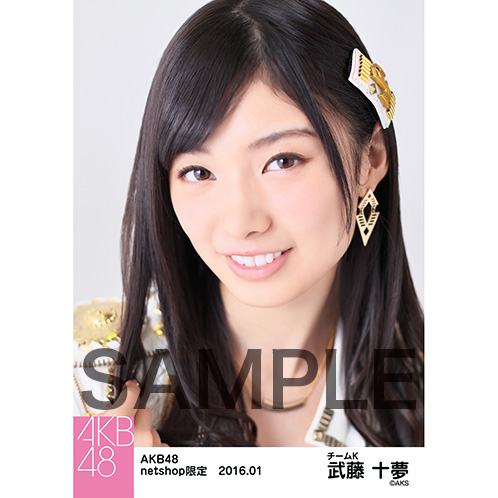 AKB48 2016年1月度 net shop限定個別生写真5枚セット 武藤十夢