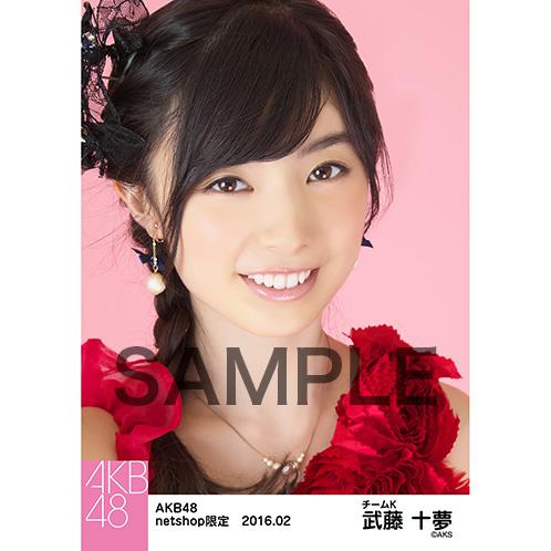 AKB48 2016年2月度 net shop限定個別生写真「赤ドレス」5枚セット武藤十夢