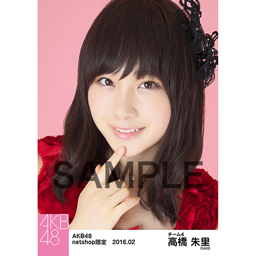 AKB48 2016年2月度 net shop限定個別生写真「赤ドレス」5枚セット高橋朱里