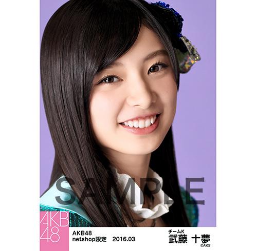 AKB48 2016年3月度 net shop限定個別生写真 「回遊魚のキャパシティ」5枚セット 武藤十夢