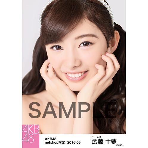 AKB48 2016年5月度 net shop限定個別生写真 「君にウェディングドレスを... 衣装」5枚セット 武藤十夢