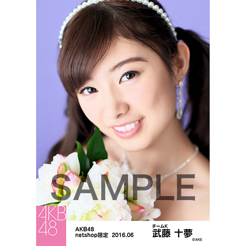 AKB48 2016年6月度 net shop限定個別生写真 「君にウェディングドレスを... 」衣装II 5枚セット 武藤十夢