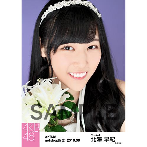 AKB48 2016年6月度 net shop限定個別生写真 「君にウェディングドレスを... 」衣装II 5枚セット 北澤早紀