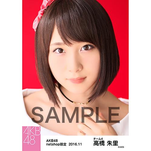 AKB48 2016年11月度 net shop限定個別生写真 「レトロワンピ」5枚セット 高橋朱里