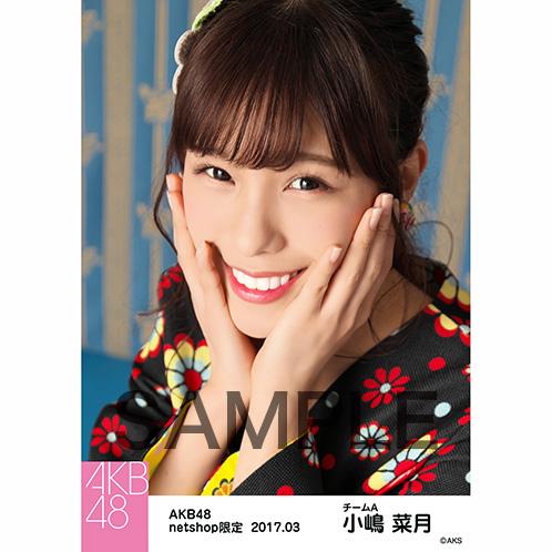 AKB48 2017年3月度 net shop限定個別生写真 「翼はいらない 花柄」衣装5枚セット 小嶋菜月