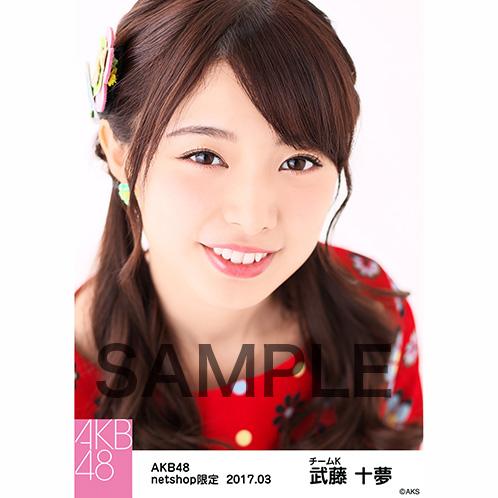 AKB48 2017年3月度 net shop限定個別生写真 「翼はいらない 花柄」衣装II5枚セット 武藤十夢