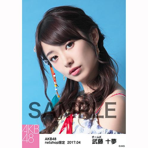 AKB48 2017年4月度 net shop限定個別生写真 「翼はいらない エスニック柄」衣装5枚セット 武藤十夢