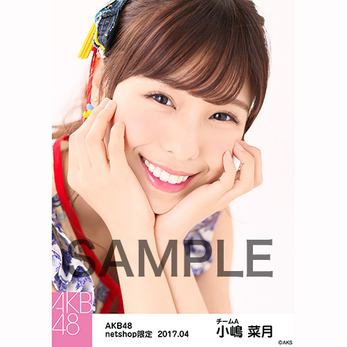 AKB48 2017年4月度 net shop限定個別生写真 「翼はいらない エスニック柄」衣装II5枚セット 小嶋菜月