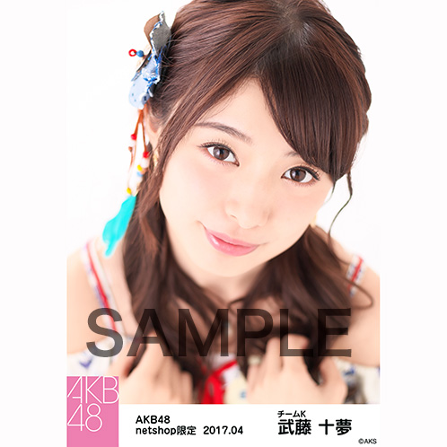 AKB48 2017年4月度 net shop限定個別生写真 「翼はいらない エスニック柄」衣装II5枚セット 武藤十夢