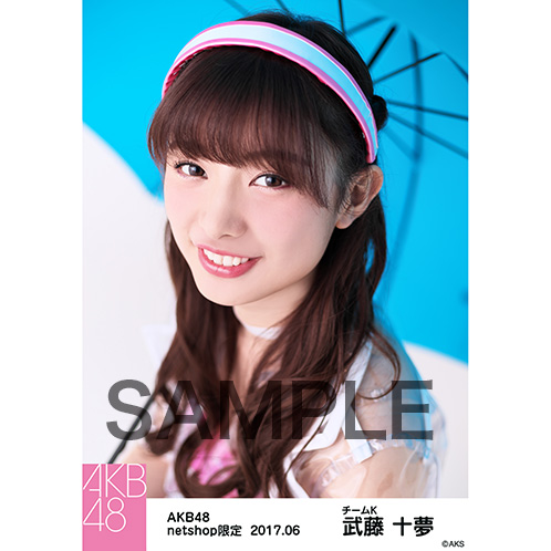 AKB48 2017年6月度 net shop限定個別生写真「ただいま恋愛中 レインコート」衣装II5枚セット 武藤十夢