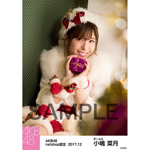 AKB48 2017年12月度 net shop限定個別生写真「ポンポン ホワイトクリスマスドレス」衣装5枚セット 小嶋菜月