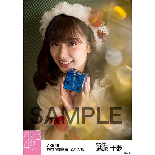 AKB48 2017年12月度 net shop限定個別生写真「ポンポン ホワイトクリスマスドレス」衣装5枚セット 武藤十夢