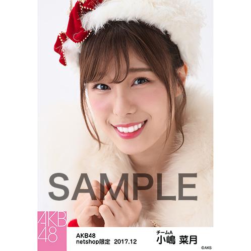 AKB48 2017年12月度 net shop限定個別生写真「ポンポン ホワイトクリスマスドレス」衣装II5枚セット 小嶋菜月