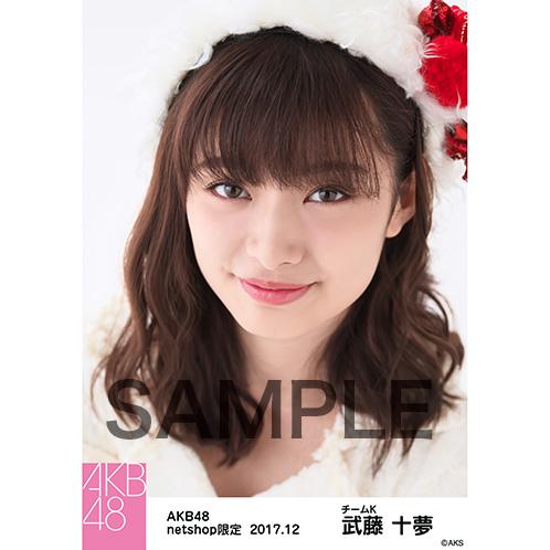 AKB48 2017年12月度 net shop限定個別生写真「ポンポン ホワイトクリスマスドレス」衣装II5枚セット 武藤十夢
