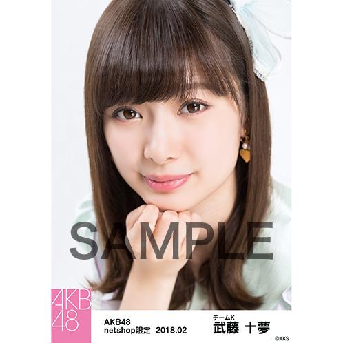 AKB48 2018年2月度 net shop限定個別生写真「パステルエプロン」衣装II5枚セット 武藤十夢