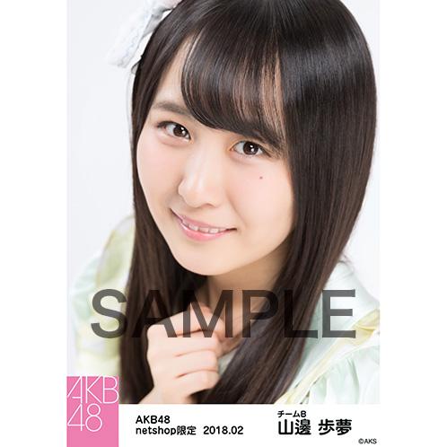 AKB48 2018年2月度 net shop限定個別生写真「パステルエプロン」衣装II5枚セット 山邊歩夢