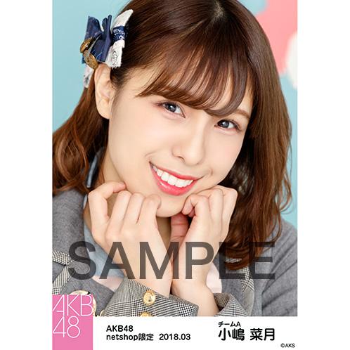 AKB48 2018年3月度 net shop限定個別生写真「ライトグレー制服」衣装5枚セット 小嶋菜月