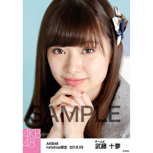 AKB48 2018年3月度 net shop限定個別生写真「ライトグレー制服」衣装5枚セット 武藤十夢