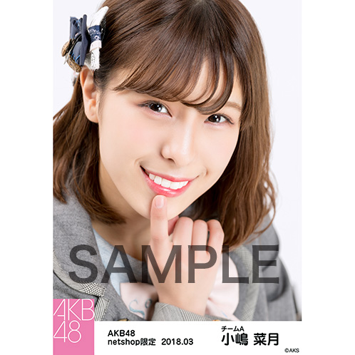 AKB48 2018年3月度 net shop限定個別生写真「ライトグレー制服」衣装II5枚セット 小嶋菜月
