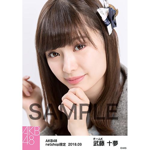 AKB48 2018年3月度 net shop限定個別生写真「ライトグレー制服」衣装II5枚セット 武藤十夢
