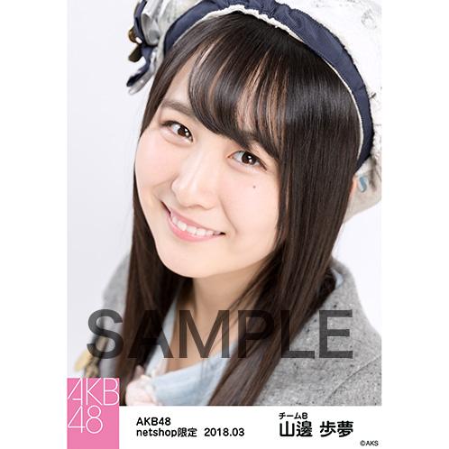 AKB48 2018年3月度 net shop限定個別生写真「ライトグレー制服」衣装II5枚セット 山邊歩夢
