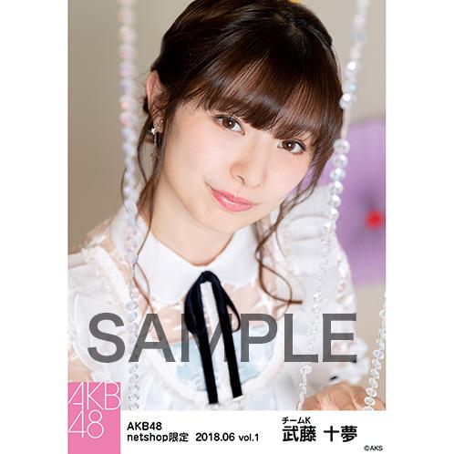 AKB48 2018年6月度 net shop限定個別生写真5枚セットvol.1 武藤十夢