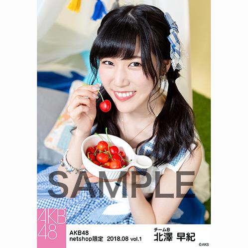 AKB48 2018年8月度 net shop限定個別生写真5枚セットvol.1 北澤早紀