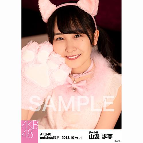 AKB48 2018年10月度 net shop限定個別生写真5枚セットvol.1 山邊歩夢