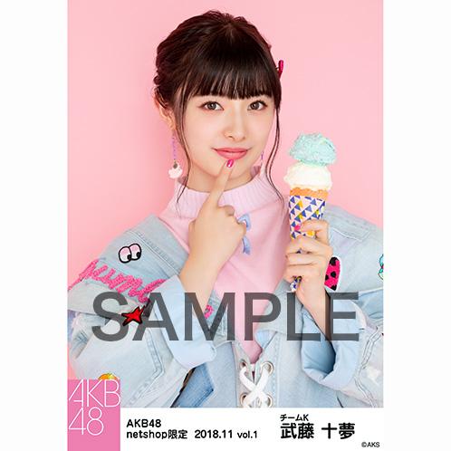 AKB48 2018年11月度 net shop限定個別生写真5枚セットvol.1 武藤十夢