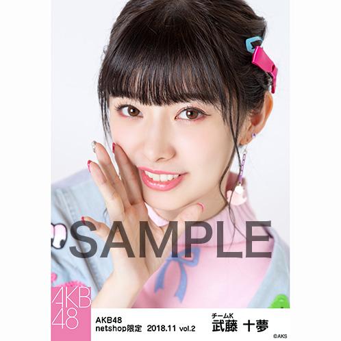 AKB48 2018年11月度 net shop限定個別生写真5枚セットvol.2 武藤十夢