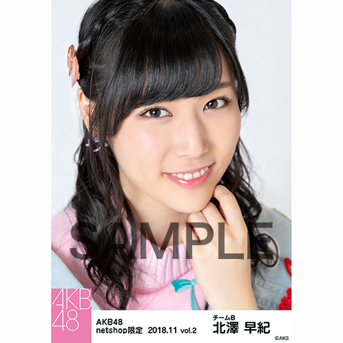 AKB48 2018年11月度 net shop限定個別生写真5枚セットvol.2 北澤早紀