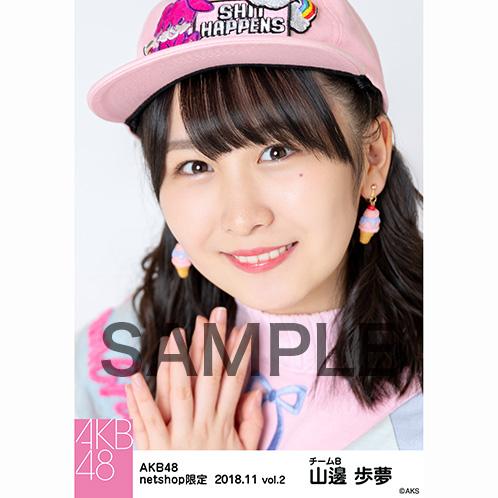 AKB48 2018年11月度 net shop限定個別生写真5枚セットvol.2 山邊歩夢