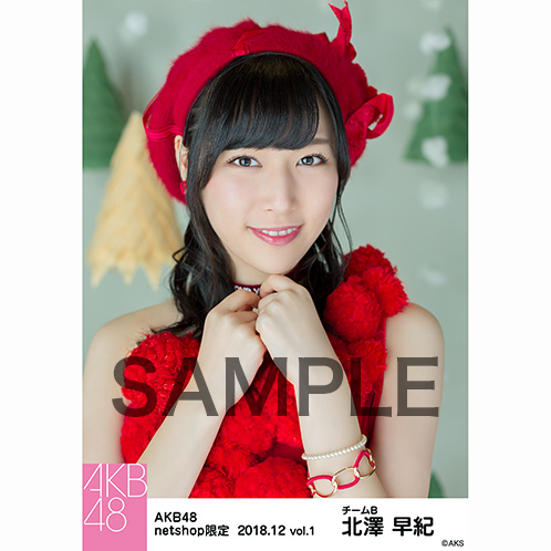 AKB48 2018年12月度 net shop限定個別生写真5枚セットvol.1 北澤早紀