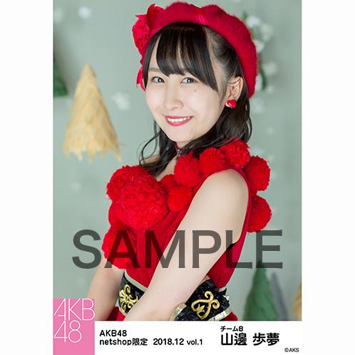 AKB48 2018年12月度 net shop限定個別生写真5枚セットvol.1 山邊歩夢