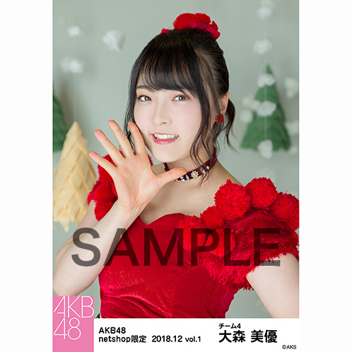 AKB48 2018年12月度 net shop限定個別生写真5枚セットvol.1 大森美優