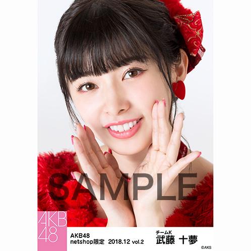 AKB48 2018年12月度 net shop限定個別生写真5枚セットvol.2 武藤十夢