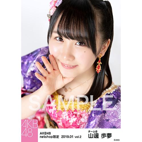 AKB48 2019年1月度 net shop限定個別生写真5枚セットvol.2 山邊歩夢