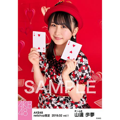 AKB48 2019年2月度 net shop限定個別生写真5枚セットvol.1 山邊歩夢