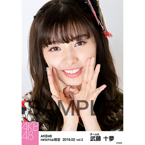 AKB48 2019年2月度 net shop限定個別生写真5枚セットvol.2 武藤十夢