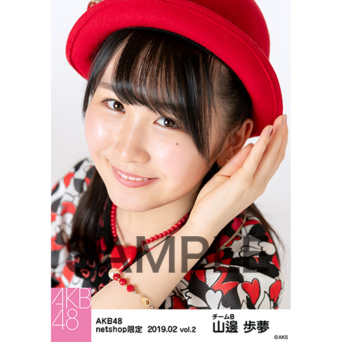 AKB48 2019年2月度 net shop限定個別生写真5枚セットvol.2 山邊歩夢