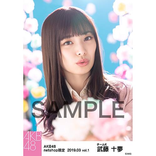 AKB48 2019年3月度 net shop限定個別生写真5枚セットvol.1 武藤十夢