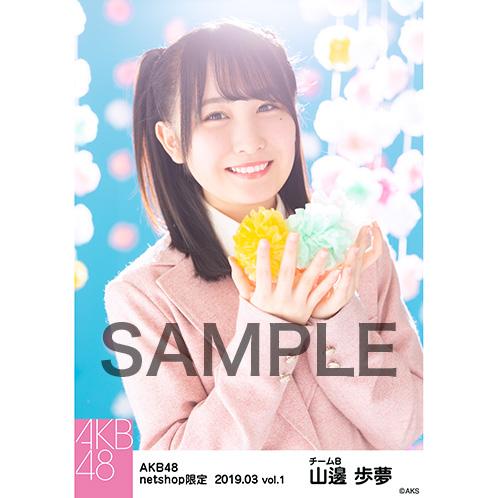 AKB48 2019年3月度 net shop限定個別生写真5枚セットvol.1 山邊歩夢