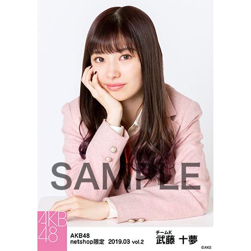 AKB48 2019年3月度 net shop限定個別生写真5枚セットvol.2 武藤十夢