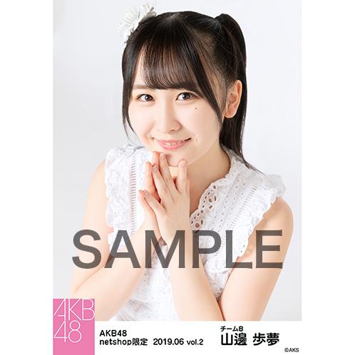 AKB48 2019年6月度 net shop限定個別生写真5枚セットvol.2 山邊歩夢