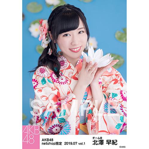 AKB48 2019年7月度 net shop限定個別生写真5枚セットvol.1 北澤早紀