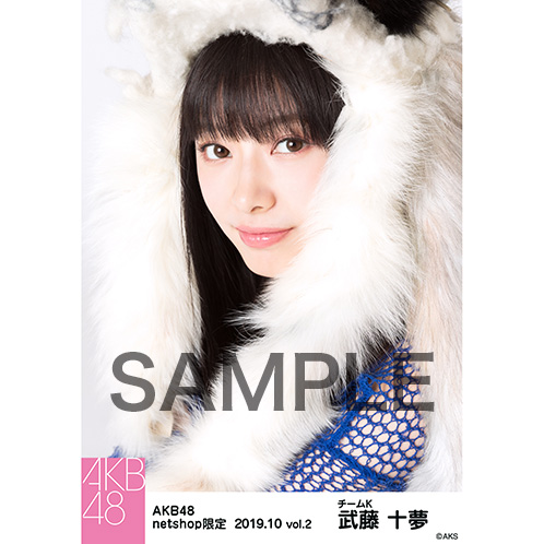 AKB48 2019年10月度 net shop限定個別生写真5枚セットvol.2 武藤十夢