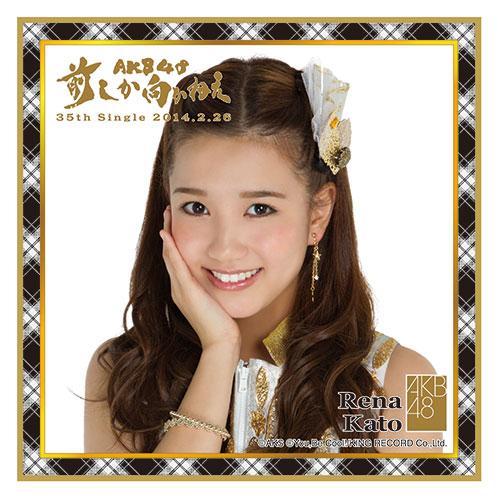 AKB48 前しか向かねえ推しタオル 加藤 玲奈